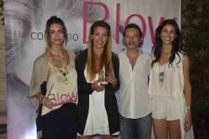 Paula Morales, Silvina Maschio fundadora de Luvion, FAbián Vena y la PR Maya Kerschen